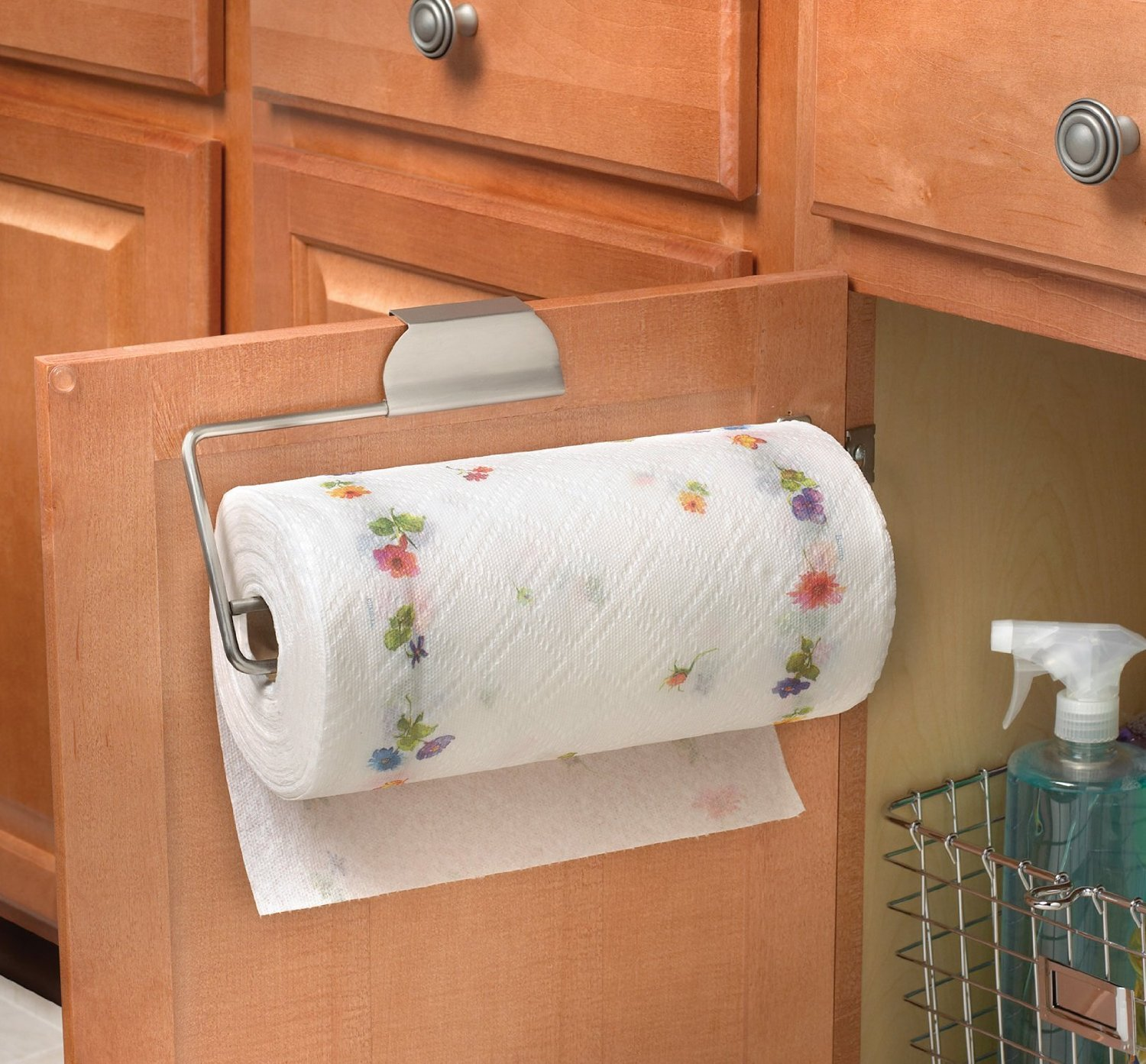 wood sink kitchen with bathroom towel paper shelf holder organizer