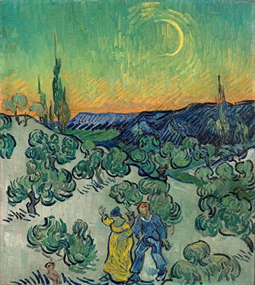 Vincent van GOGH THE COTTAGE  twilight art canvas print