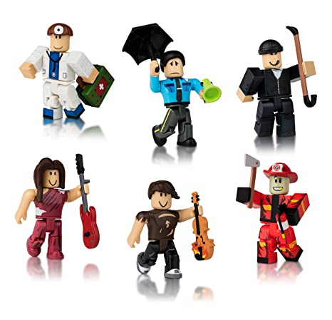 amazon com roblox citizens of roblox six figure pack toys games