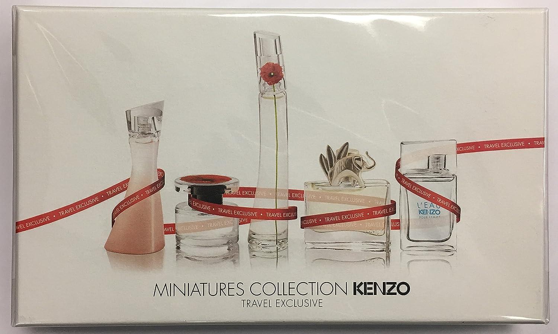 Kenzo 5 Piece Mini Set For Women Beauty Flower Woman Edt 100 Ml Original Free Vial