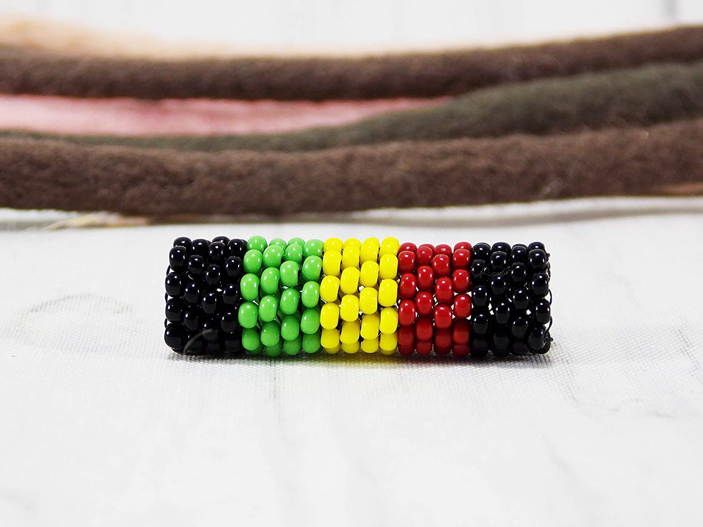 Amazon Com Handmade Rasta Dread Beads For Dreadlock Jewellery With Hairstyles Jamaica Hair Braid Cuff Rastafarian Accessory Handmade