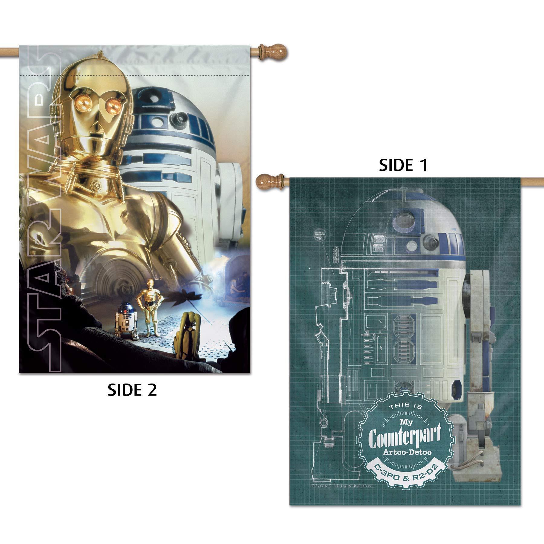 WinCraft Star Wars Star Wars Star Wars/Original Trilogy 28'' x 40'' Vertical Flag 2 SidedWinCraft Star Wars/Original Trilogy 28'' x 40'' Vertical Flag 2 Sided, Multicolor, NA by WinCraft