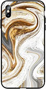 Okteq Case for iPhone X and iphone XS Shock Absorbing PC TPU Full Body Drop Protection Cover matte printed - skitch marble By Okteq