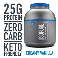Isopure Zero Carb, Keto Friendly Protein Powder, 100% Whey Protein Isolate, Flavor: Creamy Vanilla, 4.5 Pounds (Packaging May Vary)