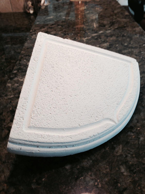 Add On WHITE Stone Resin Shower Corner Soap Dish / Shampoo Corner Shelf For  Your Existing Tile Walls. Get Those Bottles Off Your Shower Floor.