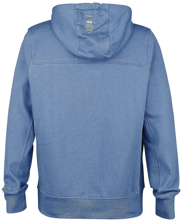 Mens Crosshatch con capucha polar jersey suave logotipo de impresión nueva marca sudor Top BORXJ