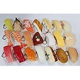 食品サンプル 寿司 キーホルダー マグネット 実物大 雑貨 小物 お土産 (キーホルダー21貫セット)
