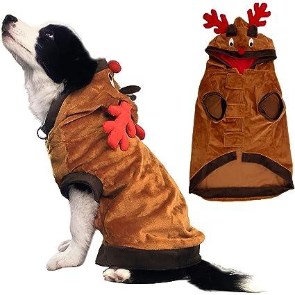Buy Kooltail Christmas Reindeer Dog Costume Pet Clothes Funny Coat