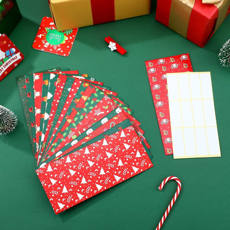 Money Cash Envelopes Christmas Money Envelopes Waterproof Budget Envelopes with Budget Sheets for Cash Saving Budget Planning 18