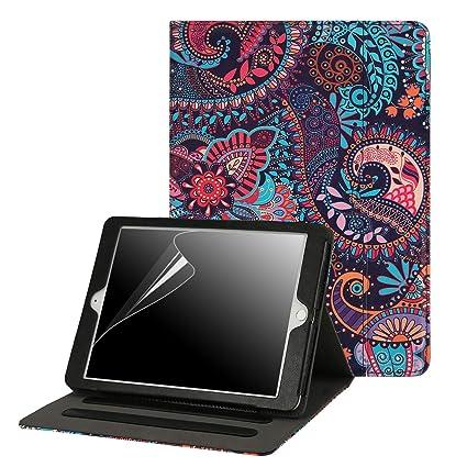 Amazon Com Hde 6th Generation Ipad Cases Ipad  7 Inch Cover For Apple Ipad 2018 6th Gen Ipad 2017 5th Gen Purple Paisley Computers