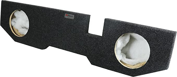 BboxVehicle Specific Carpeted 2002-2012 Dodge Ram Quad Cab Dual 10-Inch Up-Firing Subwoofer Enclosure Charcoal