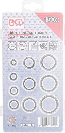 Metallo-Anello di tenuta-Assortimento con gomma-tallone di tenuta 150 pezzi