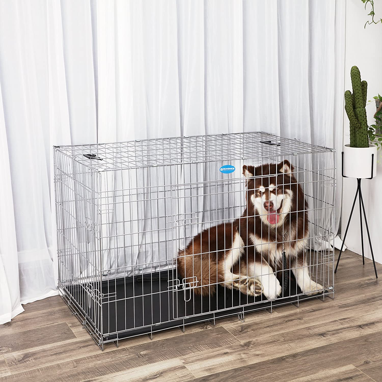 SONGMICS Hundekäfig Hundebox Transportbox Drahtkäfig Katzen Hasen ...
