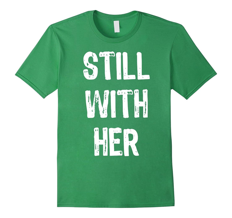 still with her t shirt cl colamaga. Black Bedroom Furniture Sets. Home Design Ideas