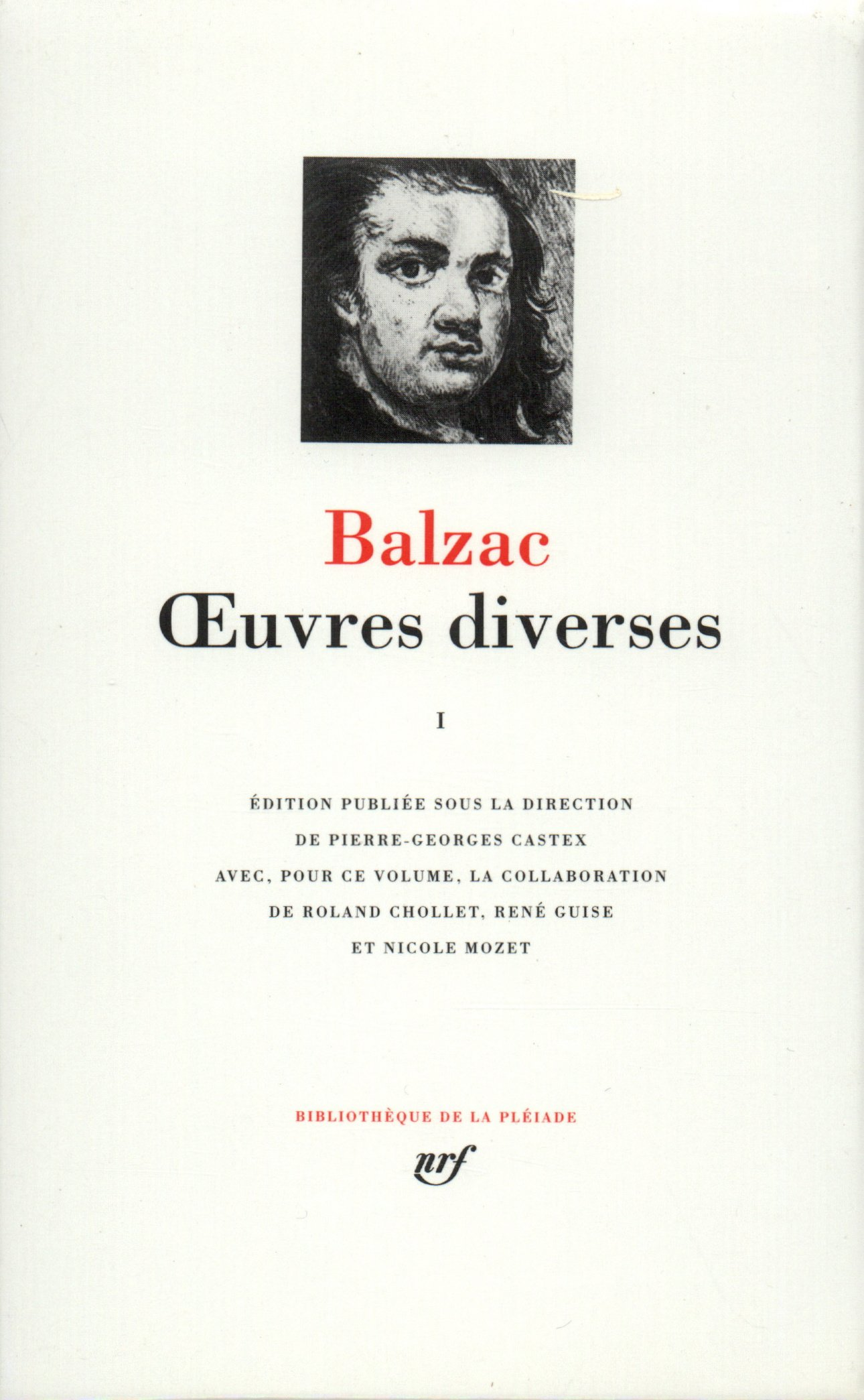 Balzac : Oeuvres diverses, tome 1 (Bibliotheque de la Pleiade) (French Edition) PDF Text fb2 book