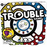 Trouble Board Game Pop-o-Matic Dice Roller Includes Power Die and Shield to Amp Up The Fun, Game for Kids Ages 5 and Up…