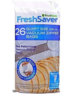 Amazon.com: FoodSaver FSFRBZ0316-000 1-Gallon Vacuum Zipper ...