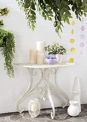 Safavieh Outdoor Collection Annalise Antique White Accent Table