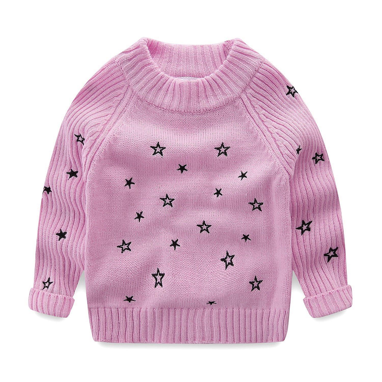 Mud Kingdom Little Girls Sweaters Pullover Stars Purple Size 6