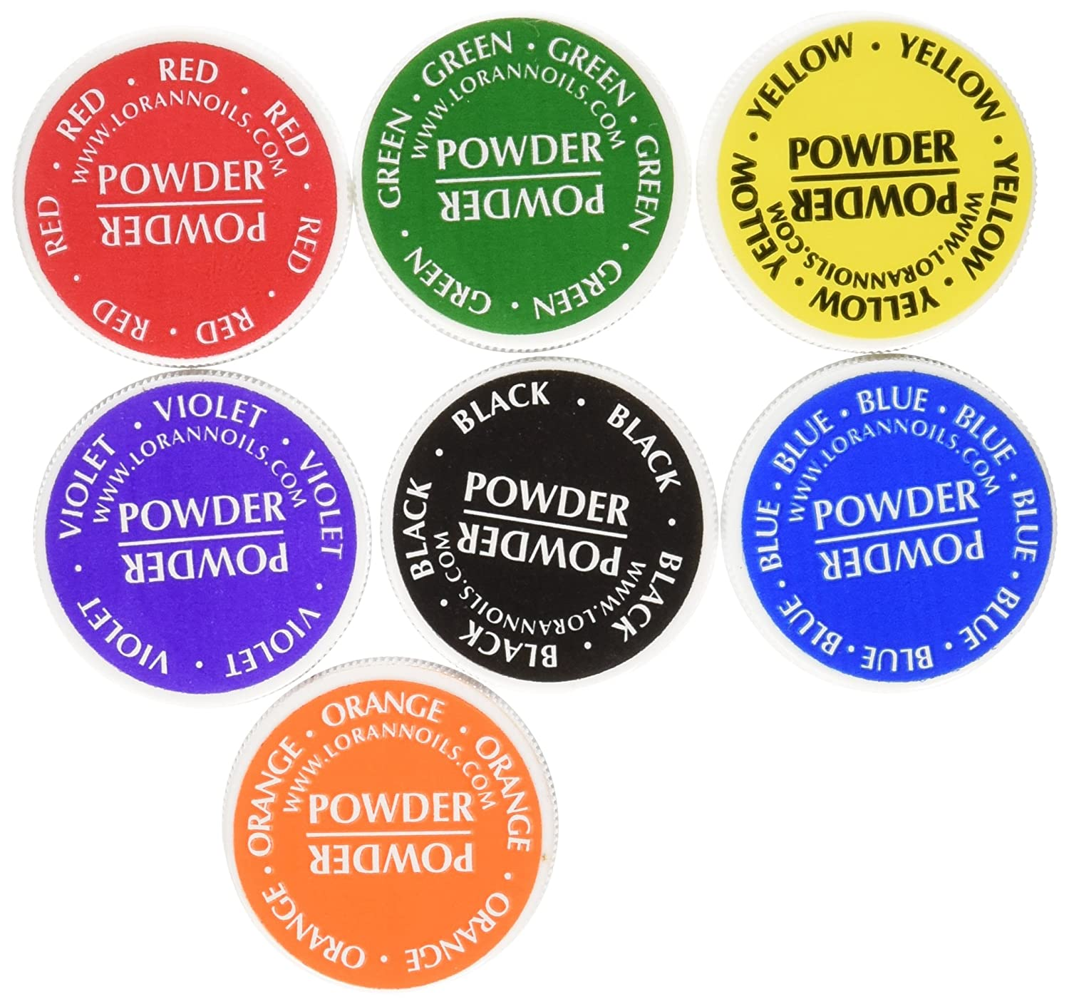 LorAnn Food Coloring Powder 1/2 Ounce, Set of 7 Colors NA