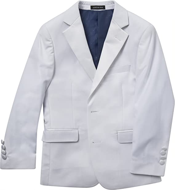 LONDON FOG Boys 4-18 Modern Fit 3-Piece Formal Luxury Suit Set Colors