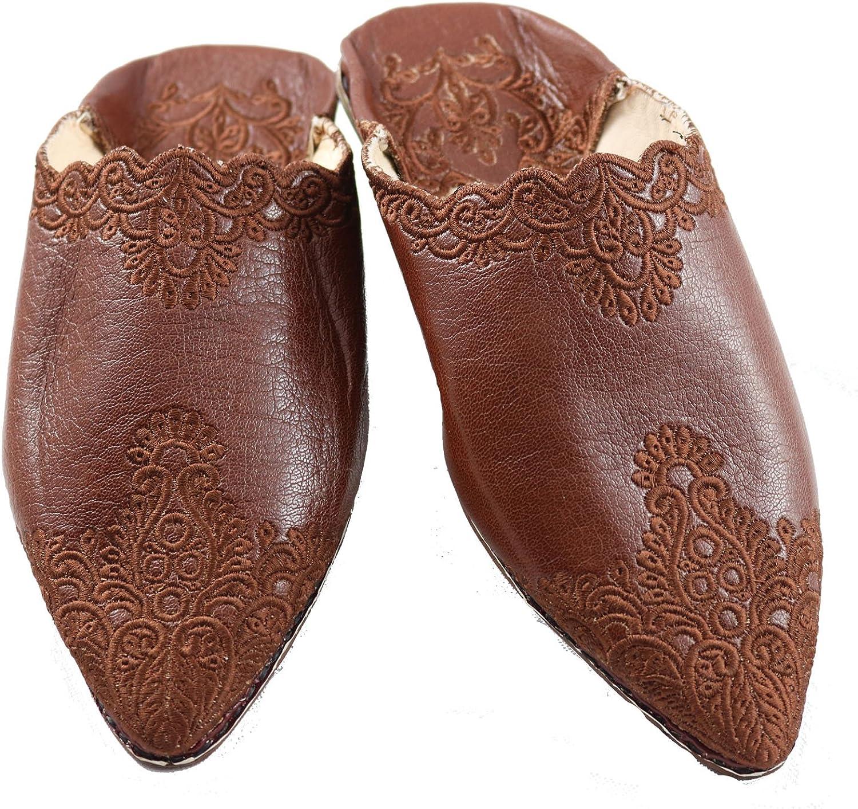 Slippers Pantoffeln Berber Handarbeit aus Marokko Leder Babouche