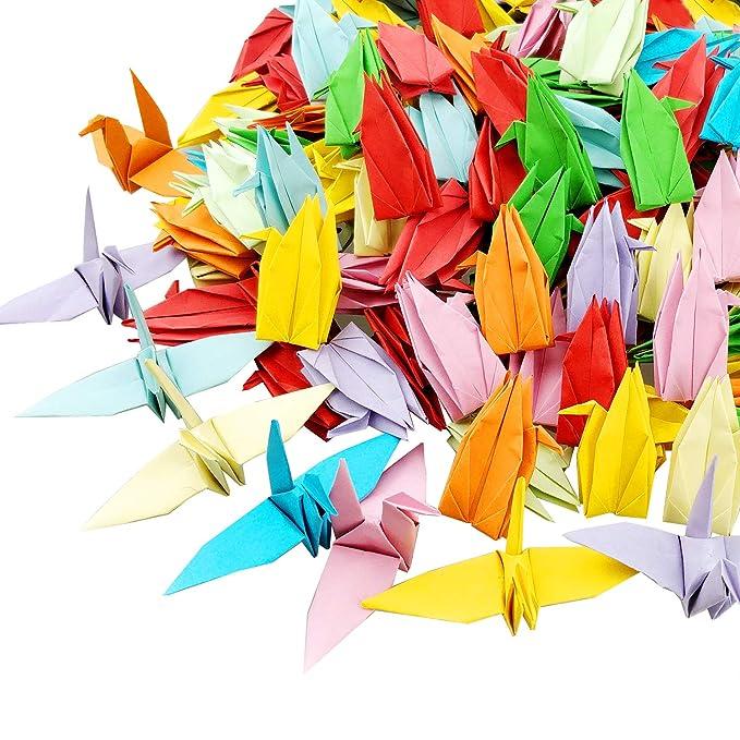 Amazon.com: CODOHI - Lote de 200 grúas de papel blanco de ...
