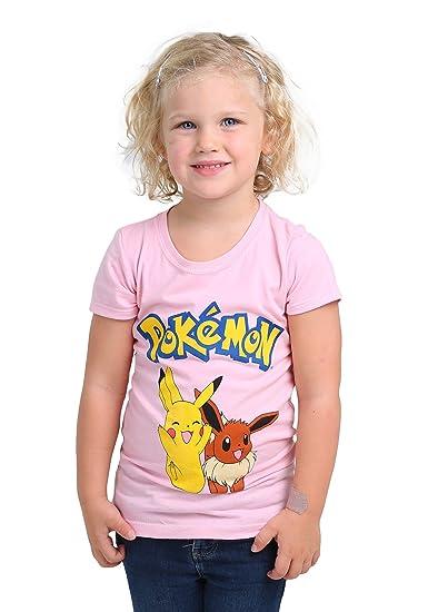 2e8e11f3 Amazon.com: Freeze Girls Pokemon Pikachu & Eevee Tee Size 4: Clothing