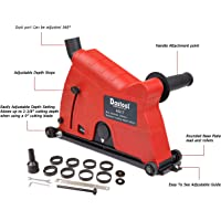Dastool Dust Collector Attachment,Cutting Dust Shroud for Angle Grinder 7 inch(180mm) and 9 inch(230mm) AG17