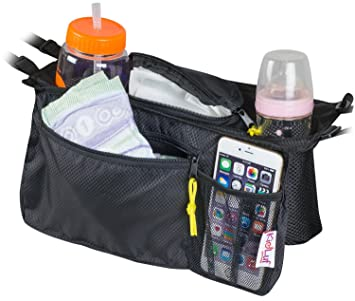 1a3d14e9b7 Universal Stroller Organizer Bag By KidLuf - 2 Cup Holders & Accessories Storage  Bag for Strollers