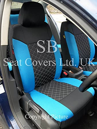 R Suitable For Kia Picanto Car Seat Covers Rossini Black Blue