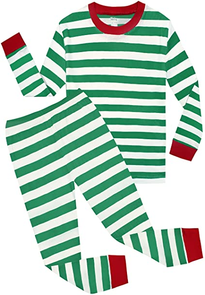 Image Unavailable. Image not available for. Color  shelry Boys Girls Christmas  Striped 2 Piece Kids Pajamas Set ... 5f5b6de64