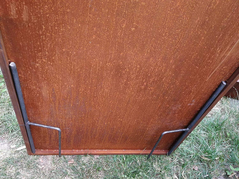 Zen Man Edelrost SichtschutzWand Rost Garten Sichtschutzwand Gartenzubeh/ör aus Metall Handarbeit 1mm 180 75cm 031912-4