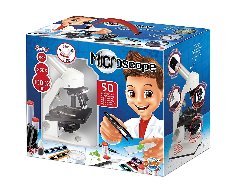 Jumelles 2 jeux scientifiques Buki Microscope 50 expériences