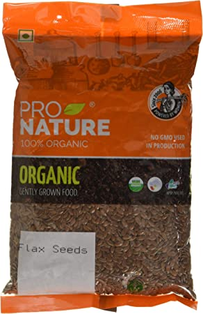 Pro Nature 100% Organic Flax Seeds, 200g