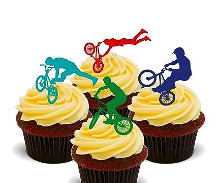 Made4You BMX - Decoración comestible para cupcakes, oblea de pie ...