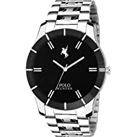 Polo Hunter Analogue Black Dial Chain Men's Watch-301