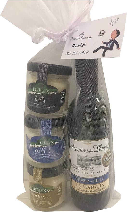 Regalo de vino señorío de los Llanos con variedad de crema de quesos para invitados (Pack 24 ud): Amazon.es: Hogar