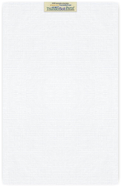 15枚の明るいホワイトリネン80#カバーペーパーシート – 12インチ×18インチ(12×18インチ) L |ポスターサイズ – 80ポンド/ポンドカード重量 – ファインリネンテクスチャ仕上げ – 高品質のカード用紙 B00Z59MMBG