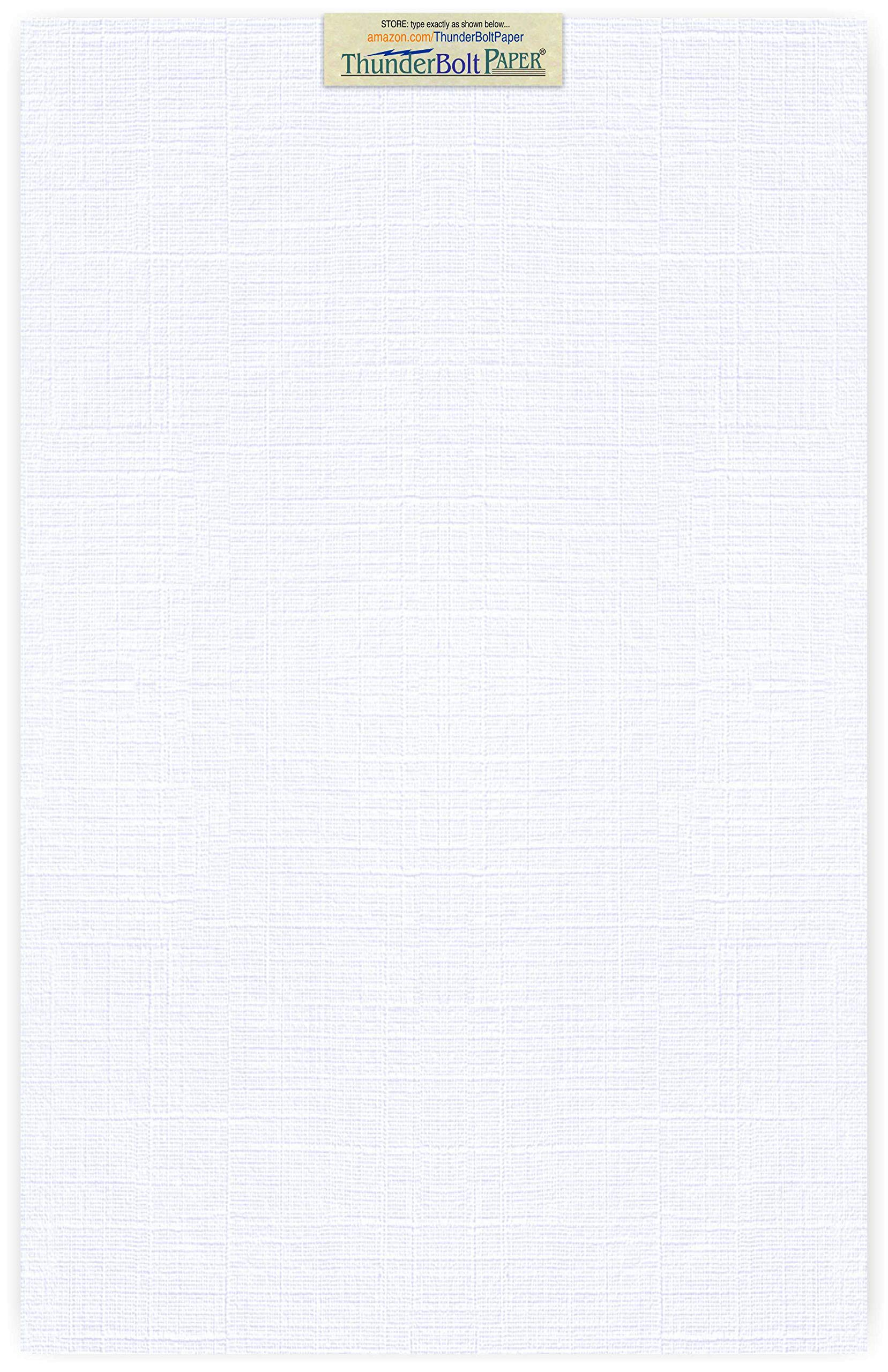 50 Bright White Linen 80# Cover Paper Sheets - 11'' X 17'' (11X17 Inches) Tabloid|Ledger|Booklet Size - 80 lb/Pound Card Weight - Fine Linen Textured Finish Cardstock
