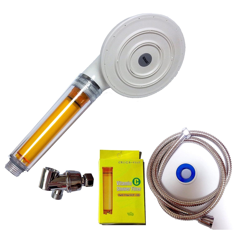 Sonaki Rain Big Vitamin C 3filters Chlorine removal Shower Head hose Hanger set