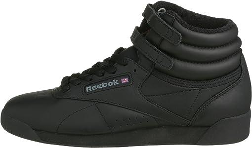 Reebok Freestyle Hi - Zapatillas de cuero para mujer, Negro (Black ...