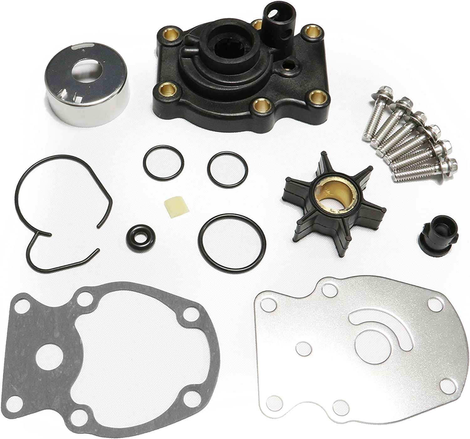 Full Power Plus Johnson Evinrude OMC Water Pump Kit with Housing Replacement (1980-UP) 20 25 30 35HP Sierra 18-3382 393630 0393630 Outboard Motor Parts