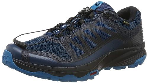 Détails sur Salomon Hommes Xa Discovery Gore Tex Trail Chaussures Course À Pied Baskets Bleu