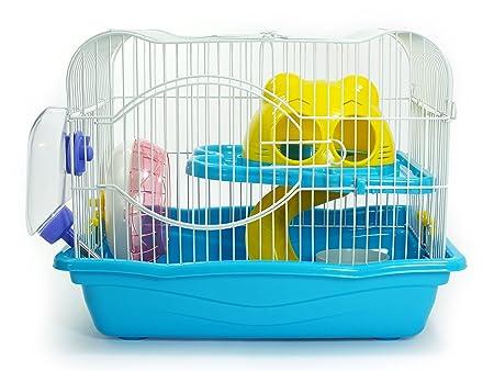 Jaula para hamster o pequeño roedor - Modelo Cartoon (Azul ...
