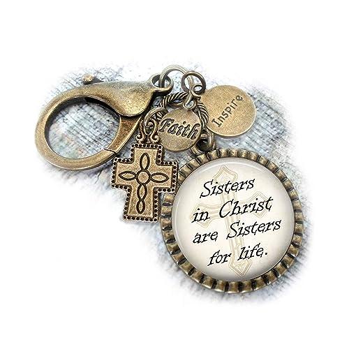 Amazon com: Key Chain or Purse Clip, Sisters In Christ Are