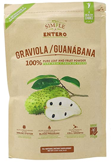 Graviola Guanabana Powder Mix | 100% Pure Leaf and Soursop Fruit Powder to Support Healthy