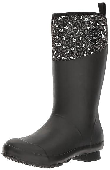 Muck Boots Damen Tremont Wellie Matte Mid, Print Gummistiefel, Schwarz (Black/Castlerock Gray), 41 EU
