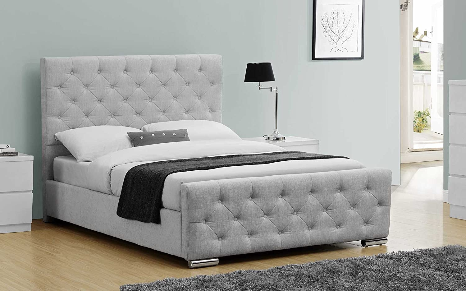 metal beds beech silver tetras birlea wood king product size bed frame