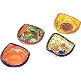 Decorative bowls - 3 Corner Salsa Bowls - Set of 4 Designs - Hand Painted in Spain